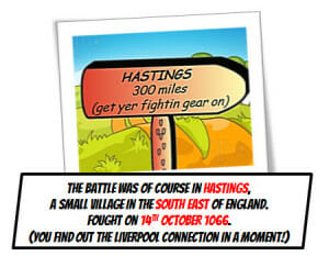 Battle of Hastings sign